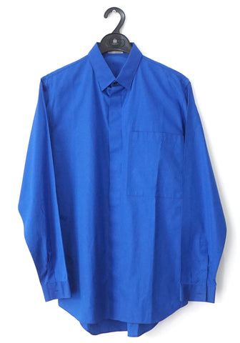 Dior Men Blue Long-Sleeved Shirt 38