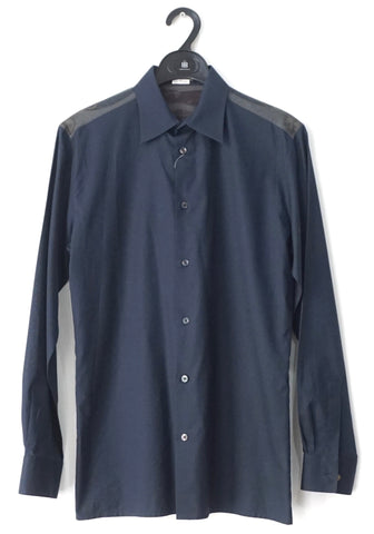 Hermes Navy Long-Sleeved Shirt 38