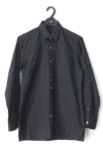Lanvin Black Printed Long-Sleeved Shirt 15.5