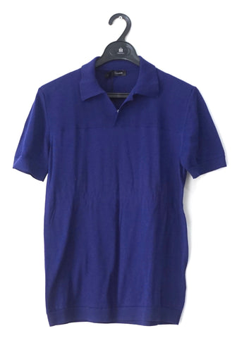 Jill Sander Blue Sweater Polo 46