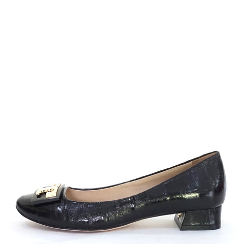 Tory Burch Black Eel Leather Gigi Pumps 5M
