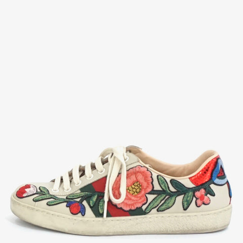Gucci Ace Floral Sneakers 5.5