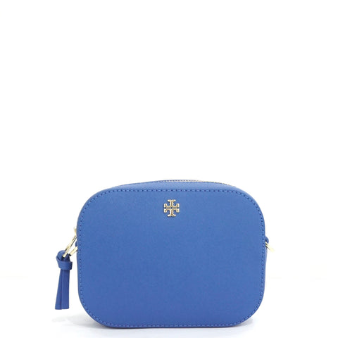 Tory Burch Regal Blue Mini Emerson Round Crossbody Bag