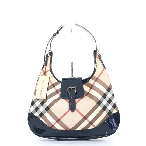 Burberry Nova Check Jet Blue Hobo Bag