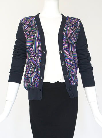 Marc Jacobs Black Purple V neck Cardigans