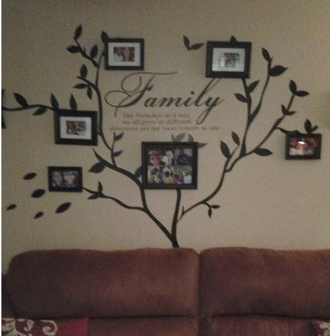 family photo wall decal