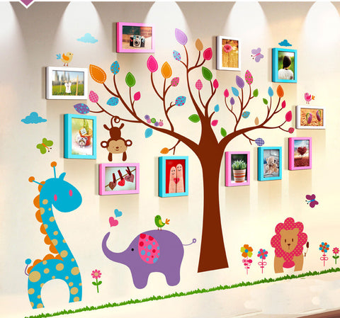 Unique family photo wall decor - WallDecal