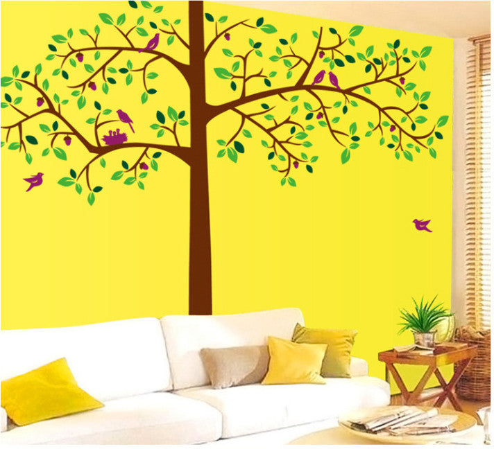 Big tree wall decal with birds - WallDecal