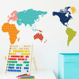 map home decor wall decal - WallDecal