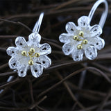 Hollow out petals Silver Earrings