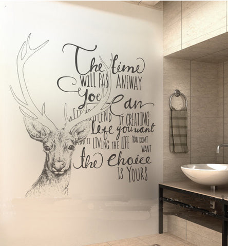 Time Deer Wall Sticker