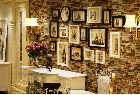 Wooden Photo Frames Set - WallDecal