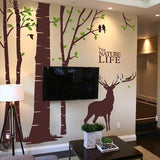 Deer Forest Wall Decal - WallDecal