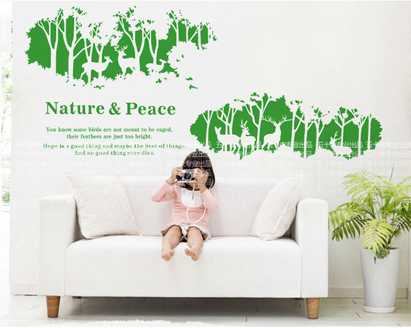 Deer Forest  Wall Decals