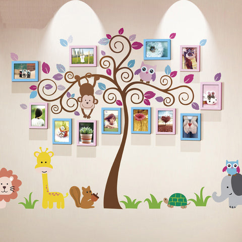 Unique family photo wall decal and frame mix - WallDecal