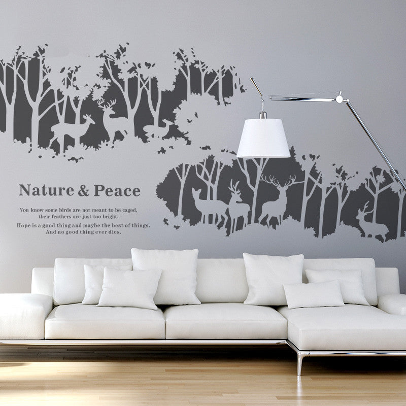 Deer Forest Wall Decals   WallDecal