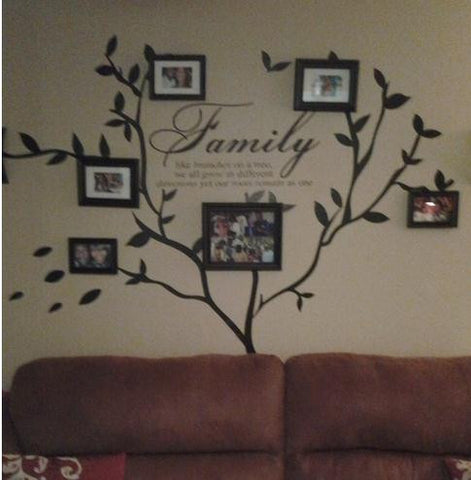 Family Photo wall decal Tree and Family love quote Wall Decal - WallDecal