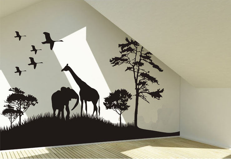 Africa image Wall decal -Africa image Wall Vinyl-Africa image Stickers-Africa image wall vinyls - WallDecal