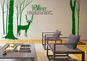 Deer Wall Decal -Deer Wall Vinyl-Deer Vinyl Sticker - WallDecal