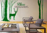 Deer wall Decal -Deer Wall Vinyl Sticker - WallDecal