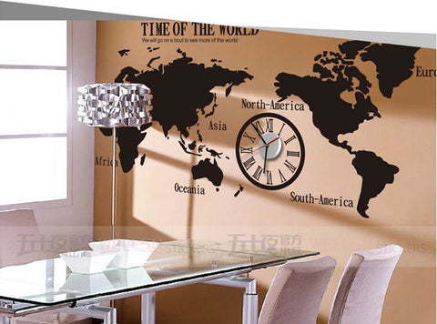World  wall  map decals  Removable Living room Wall decals