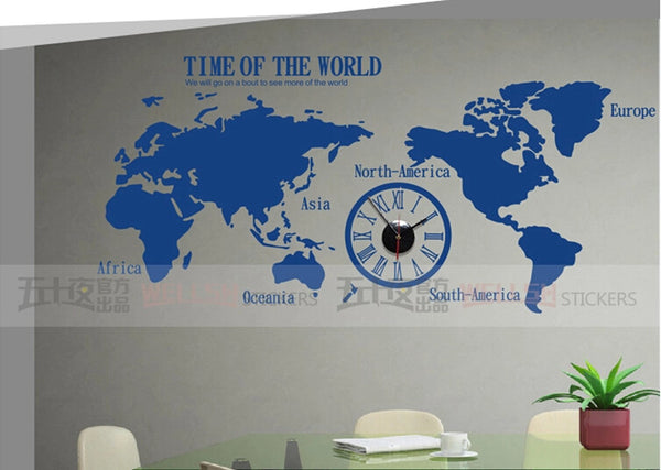 World  wall  map decals