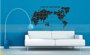 home office decor World Map decal - WallDecal