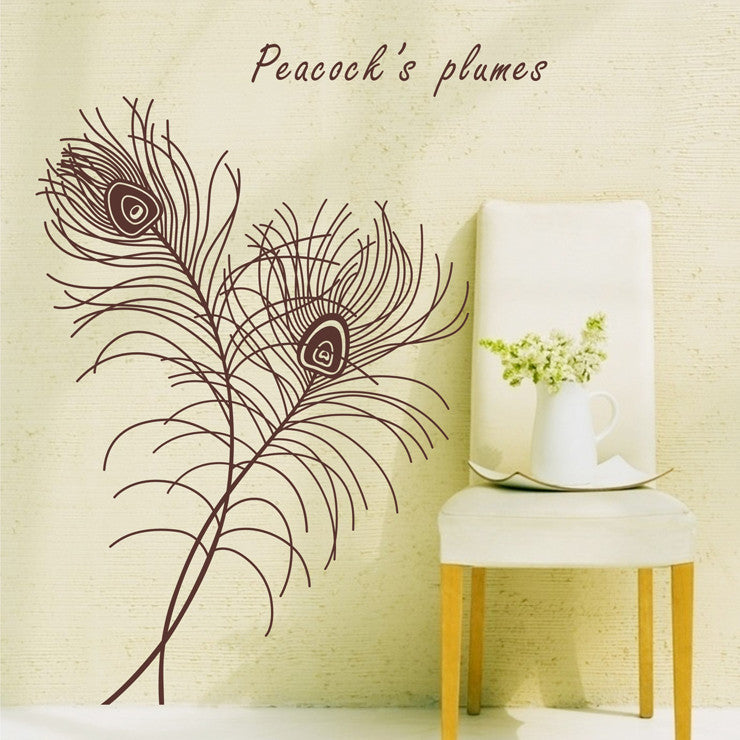 feather art wall decal - WallDecal