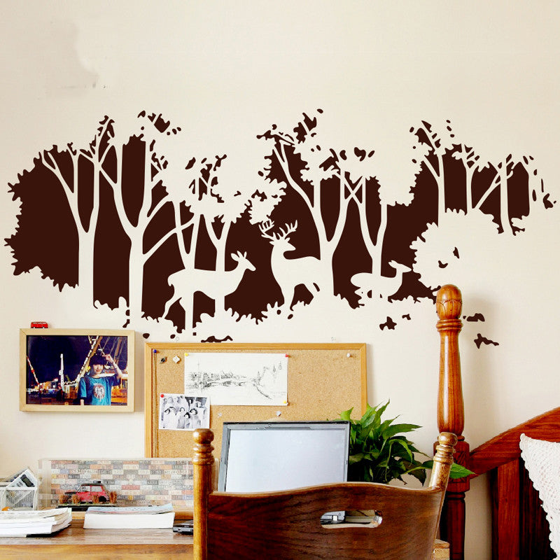 Deer art nursery wall decal - WallDecal