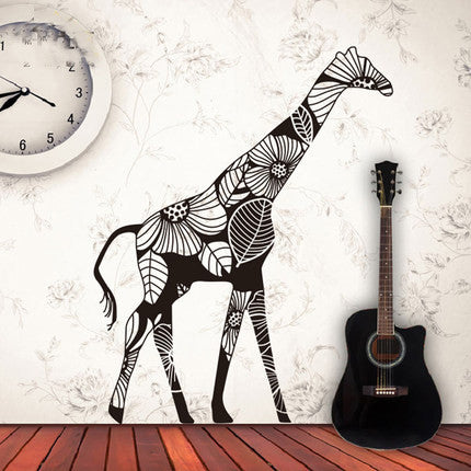 Giraffe Wall Decal Creative Giraffe Wall Vinyl - WallDecal