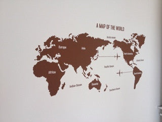 Map wall decals - WallDecal