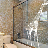 Giraffe Art Wall Decal