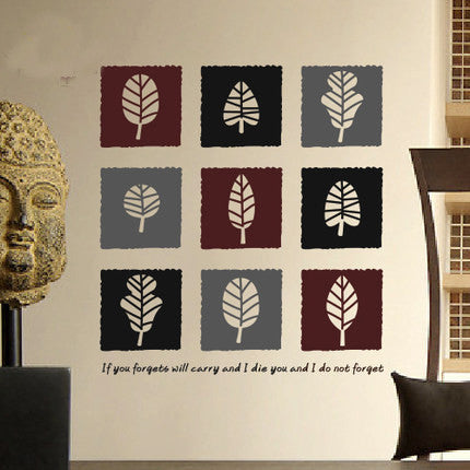 Art Leaves Geometry wall decal-Unique Design