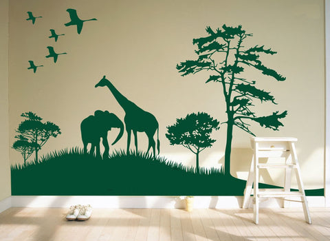Africa image Wall Vinyl-Africa image Stickers-Africa image wall vinyls