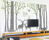 Deer Forest Wall Decal