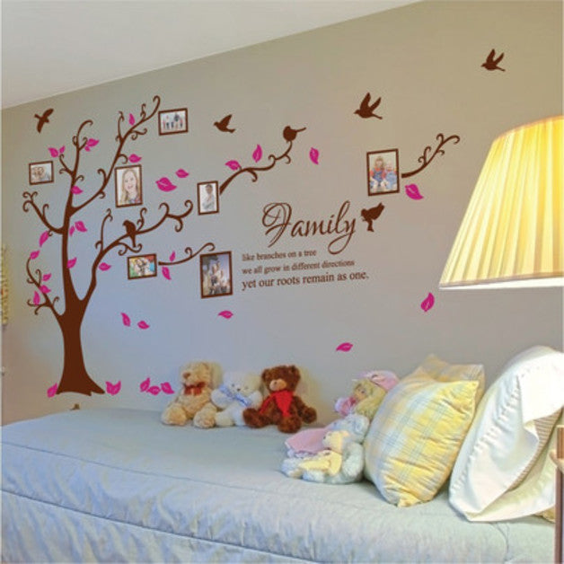 Family Tree Wall Decal Photo Frame Tree Decal Picture Tree Wall