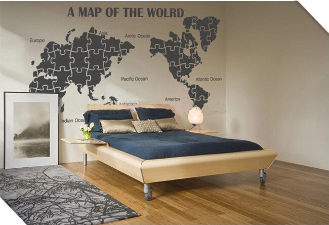 World Map decal home office decor - WallDecal
