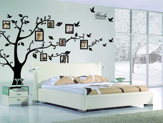 family tree wall decal - photo frame tree decal-picture tree wall