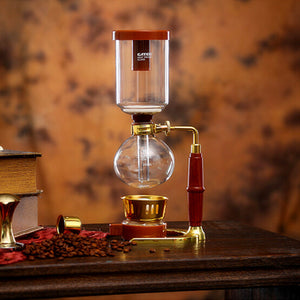 High-quality 3-cup glass siphon pot / vacuum coffee maker filter coffee pot coffee filter tools and gifts