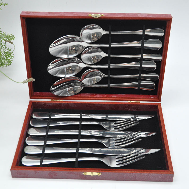 Exquisite Stainless Steel Cutlery Gift Sets Tablespoon Fork Knife 12 Ellaseal