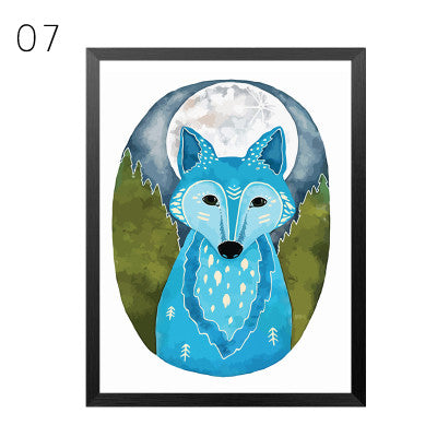 Cute Owl Wall Decor Canvas Modern Art Painting Pictures Canvas Art  Posters and Prints Paintings for Living Room Wall, No Frame