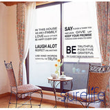 In This House We Are Family Love Each Other...Large Wall Picture for Living Room Word Art Quote Wall Sticker Size 115*60cm