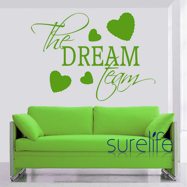 Vinyl The Dream Team Version Wall Quote Wall Decal  Wallpaper Home Decoration Wall Stickers for Kids Rooms Size 82*58cm