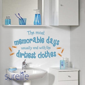 The Most Memorable Days Quotes Vinyl Wall Art Decals Stickers Wallpaper Laundry Room Home Decor Size 105*50cm
