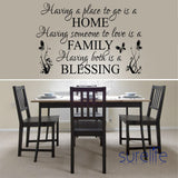 New 2015 Removable Vinyl Having A Place To Go Is A Home Wall Quotes Wallpaper Wall Art Decals Stickers Living Room Size 86*58cm