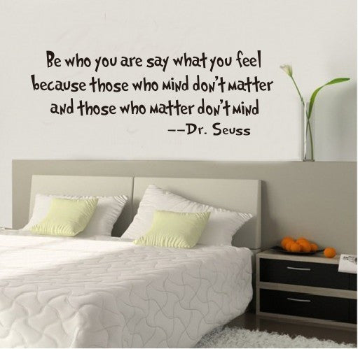 Be Who You Are Word Home Decor Art Decals Black Vinyl Letter Wall Sticker