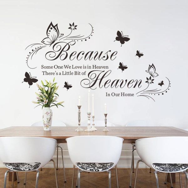 2016 Hot New PVC wall sticker stickers home decoration Butterfly Characters 3D Sticke Modern For Wall original size 42*57CM
