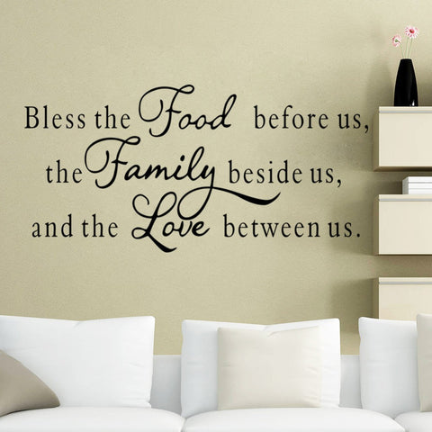 "Modern Characters "" Food Family Love "" Wall Stickers Sticker Home Decor Decals Art Diy 2015 NEW PVC Large 57*117CM"