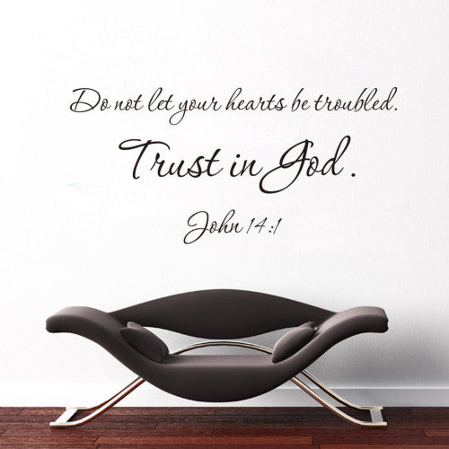 """Trust In God"" PVC Removable Wall Sticker Decor For bedroom living Rooms"