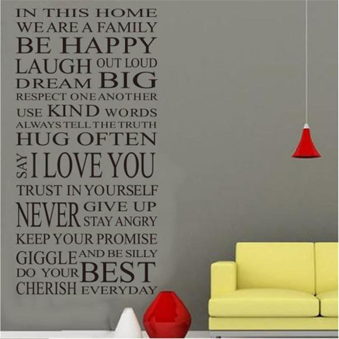house rules creative quote wall art living room decorative sticker zooyoo8052 diy removable vinyl wall decals home decorations